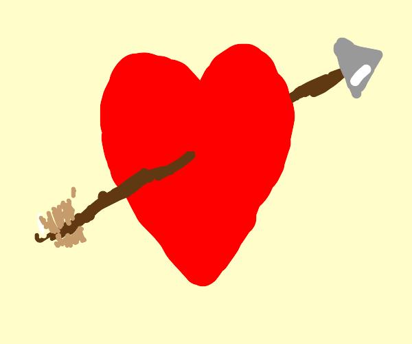 Heart with arrow through it