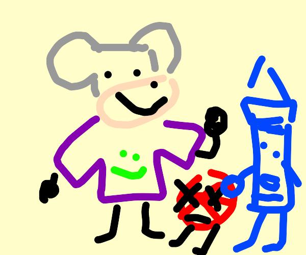 Chuckee murdering peppermints.