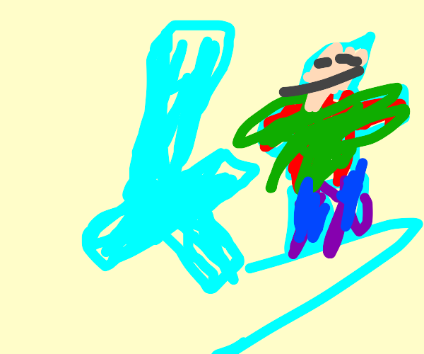 steve being chased by diamonf sword