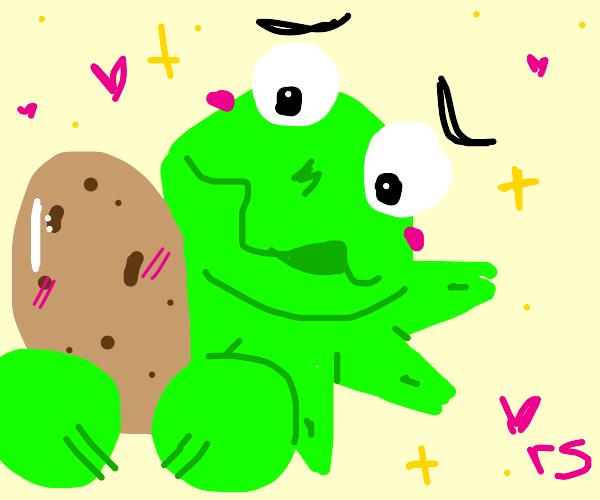 Muppets sniffing a potato