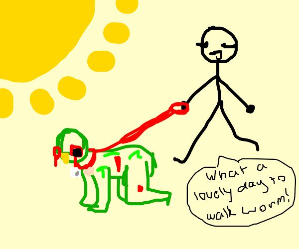 walking your pet zombie