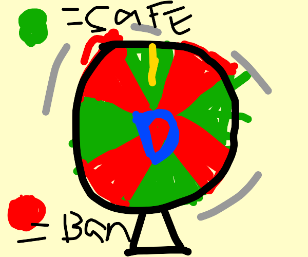 drawception roulette: green = safe. red = ban