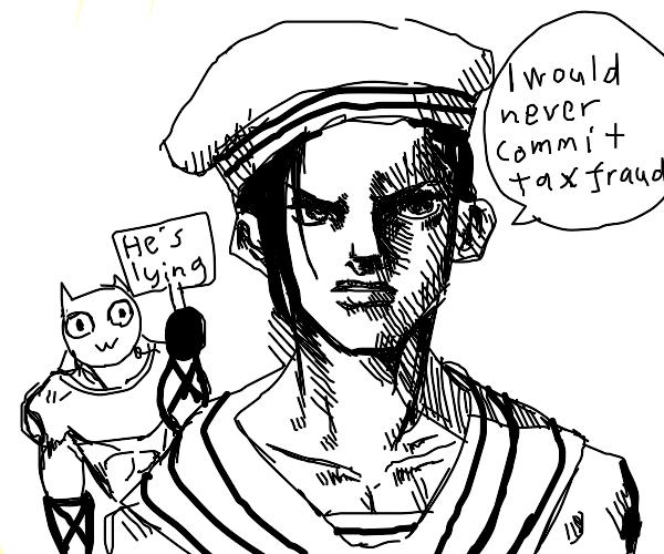 Jojo character did NOT commit tax fraud