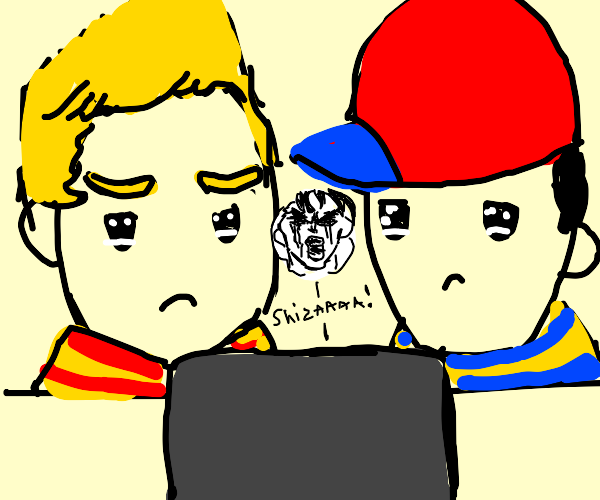 Ness and Lucas cry over a Jojo death