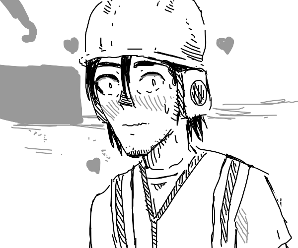 Construction worker is madly in love with you