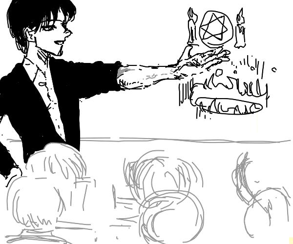 Anime teacher teaches rituals to children wtf