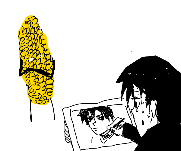 Corn forces you to do self portrait