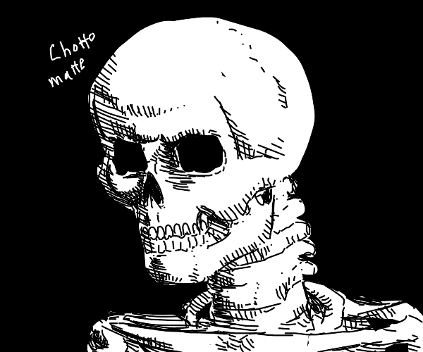 very angry skeleton