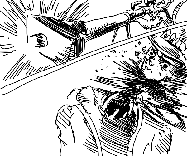 A rat shoots Jotaro