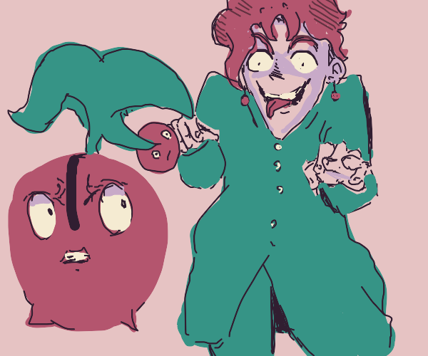 uh oh, Kakyoin is scaring cherubi