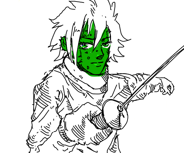 Fencing with an attractive cactus guy