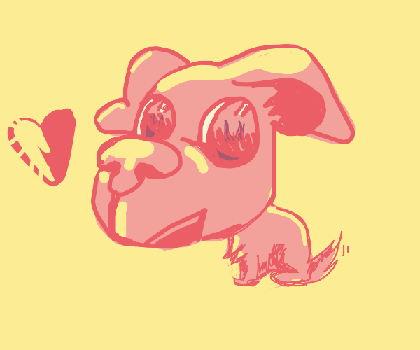 Dog with huuuuuge head and detailed face
