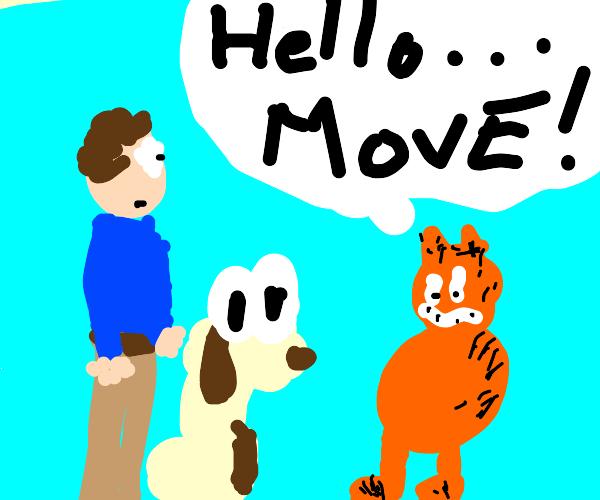 Garfield says hello