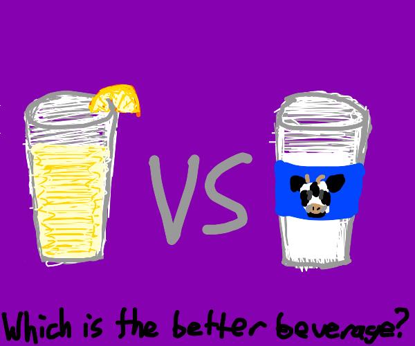 fruit juice vs milk