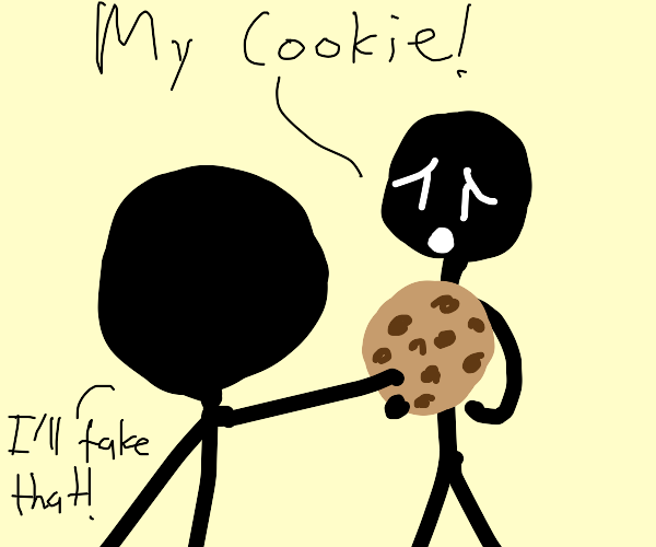 Stealing cookie from another person