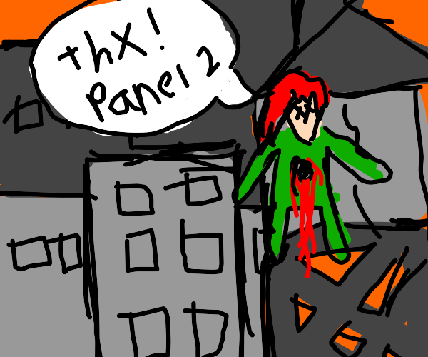 Kakyoin thanks panel two as he dies