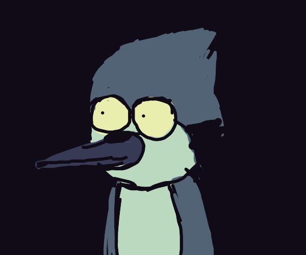 The bird from Regular Show