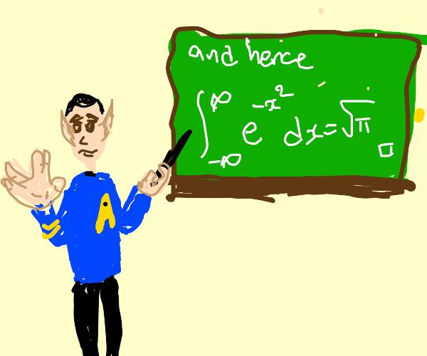 Spock teaches math