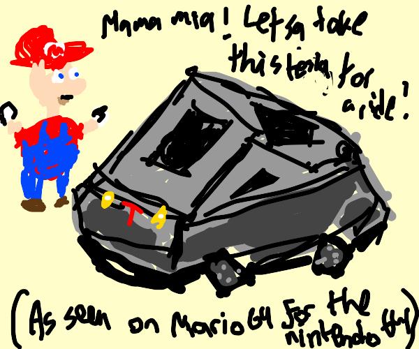 The Tesla Cybertruck on Nintendo 64.