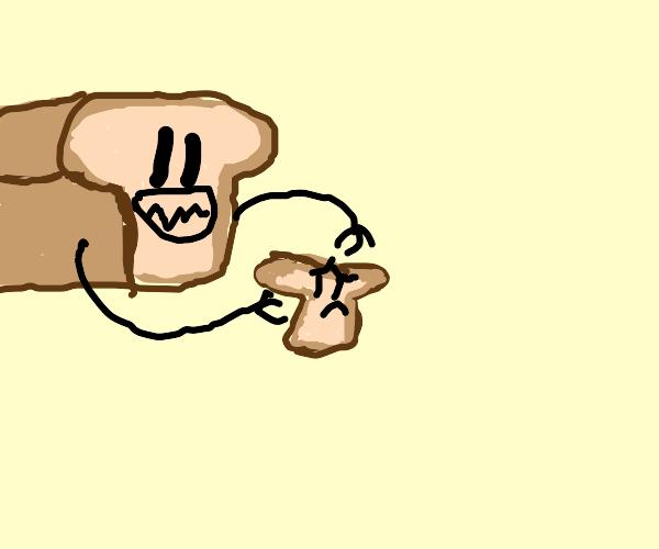 Bread eating his bbq'd children