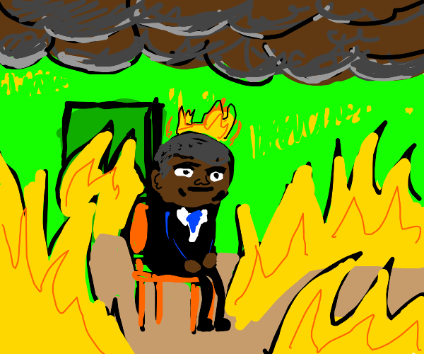 Obama is on fire and is fine