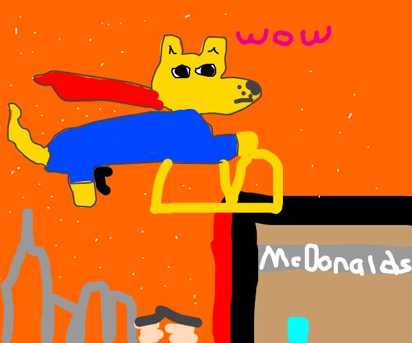 Doge superman McDonald fries named SPOT