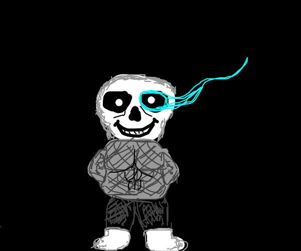 Sans in chainmail armor