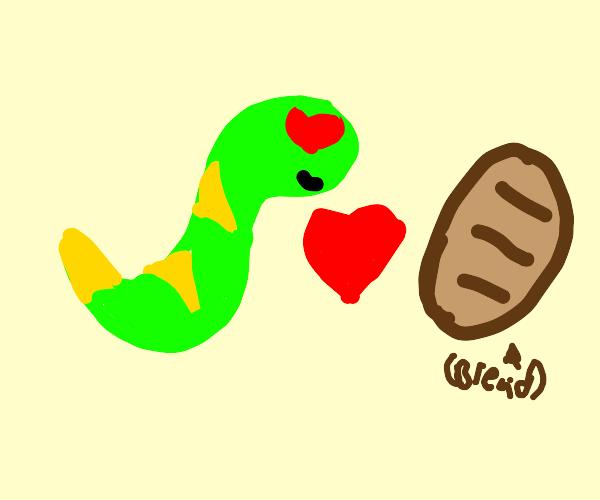 snake loves bread