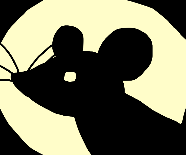 silhouette of a mouse with whiskers