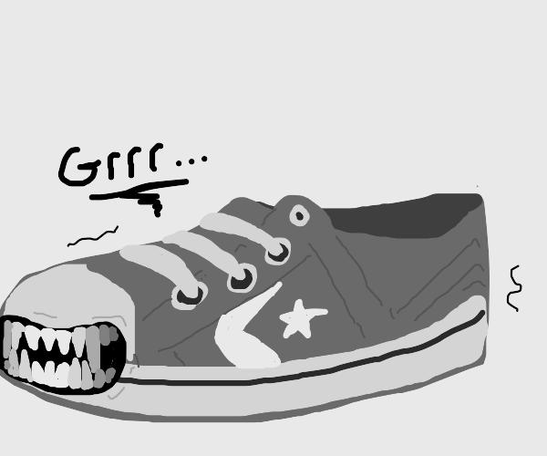 Evil shoes wants a bite