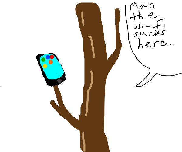 Stick Frustrated Over Bad Internet