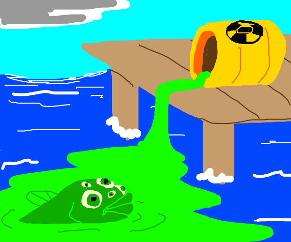 Nuclear Waste mutated fish