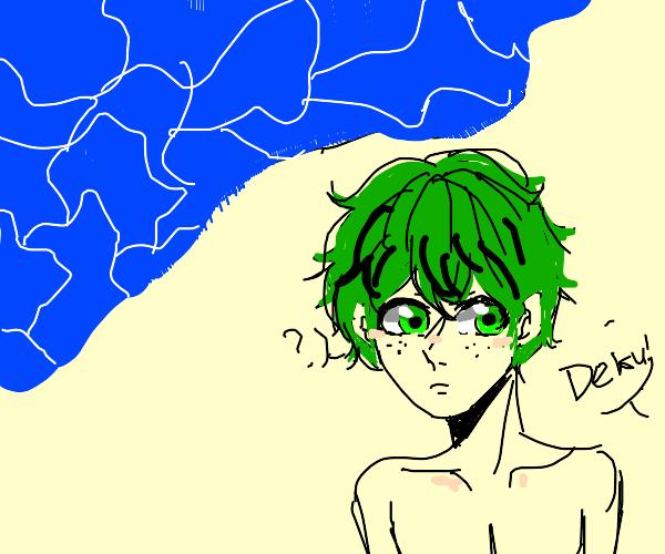 Broccoli at the beach