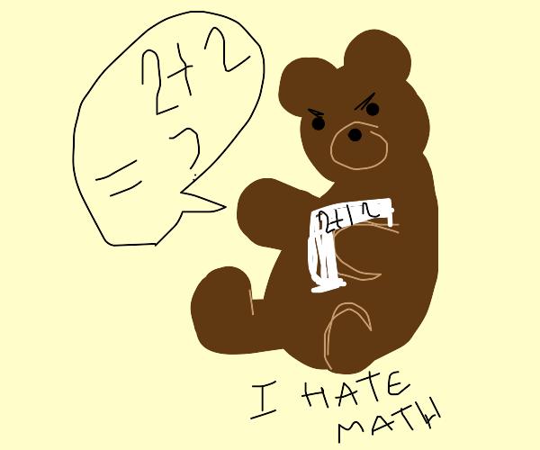 bear reading math book