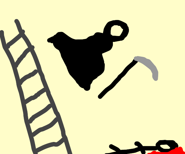 person died of falling ladder