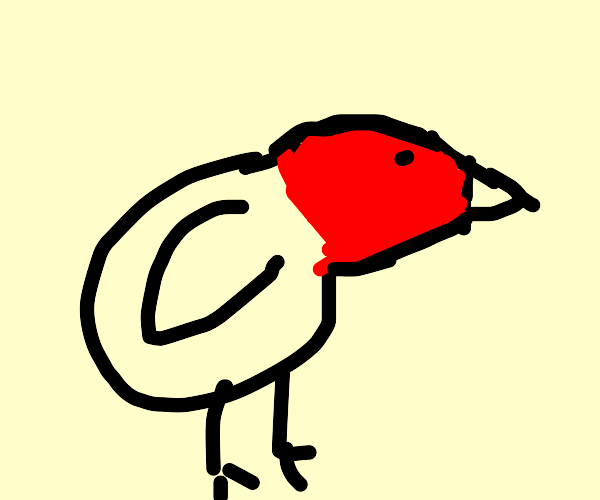 red headed sparrow