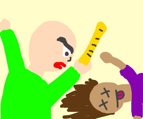 Baldi murdered a student