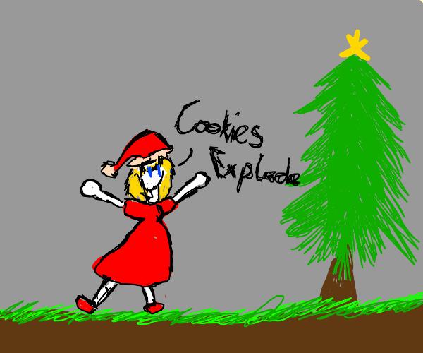 Christmas girl says cookies explode