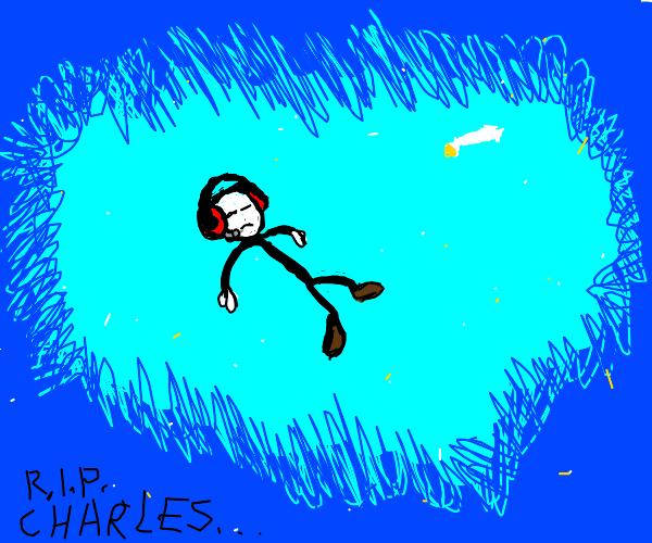 little stickman in blue abyss