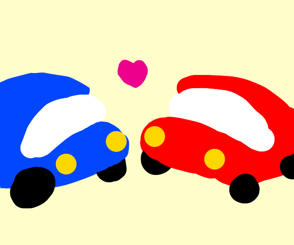 Two cars in love