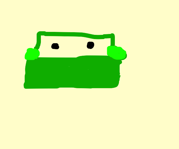 green,ol couch