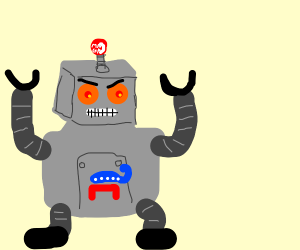 angry republican robot