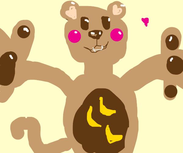 monkey want ze hug