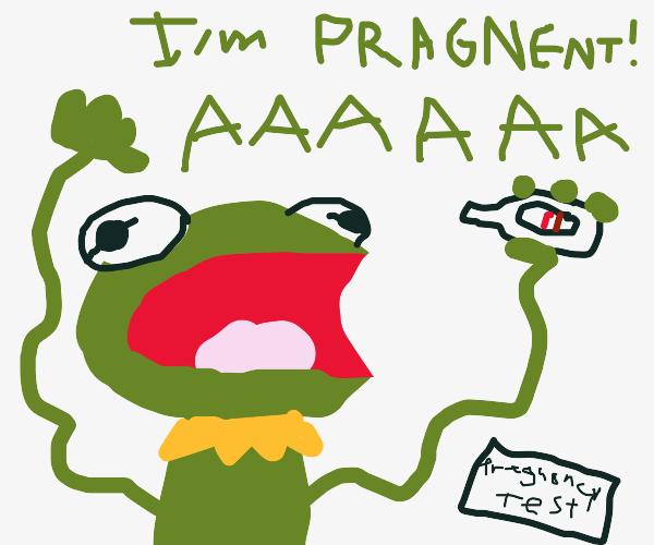 Kermit is PREGNANT!! AHHHH!