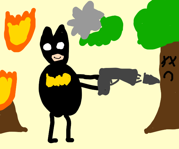 Bat man terrorises the local ecosystem