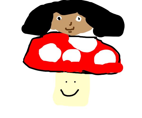 Dora on mushrooms