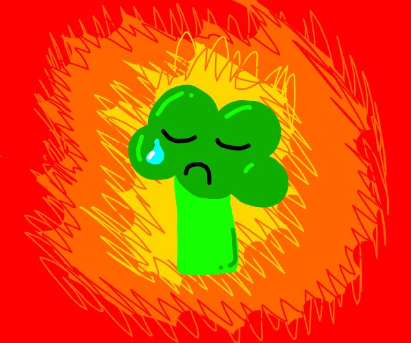 Broccoli boy explodes
