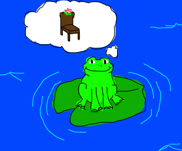 Frog dreams of frog chair