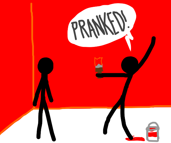 PRANK: i painted my friend's wall red omg! :P