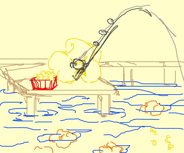 popcorn goes fishing for more popcorn